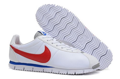 Nike Classic Cortez Nm Qs Womens Shoes White Blue Red Outlet Store