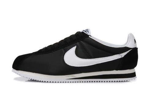 Nike Classic Cortez Nylon Mens Shoes Black White Netherlands