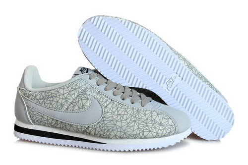 Nike Classic Cortez Nylon Mens Shoes Bling Gray Low Cost
