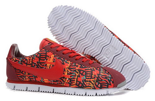 Nike Classic Cortez Nylon Mens Shoes Camo Red All Special