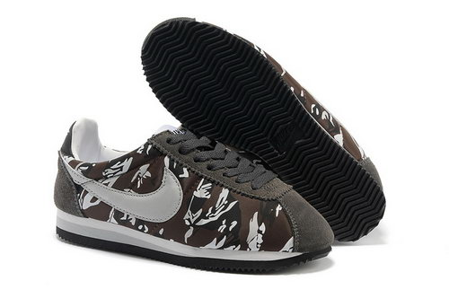 Nike Classic Cortez Nylon Mens Shoes Deep Gray Brown Ireland