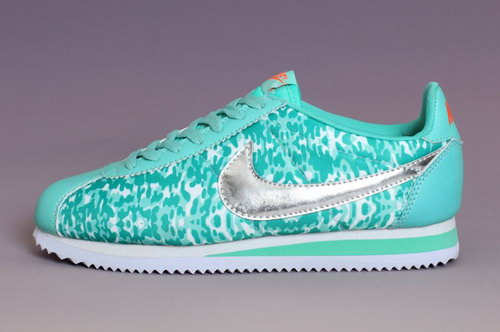 Nike Classic Cortez Nylon Prm Womens Shoes Silver Light Green New Australia