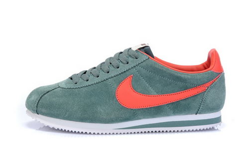 Nike Classic Cortez Nylon Womens Fur Green Orange Netherlands
