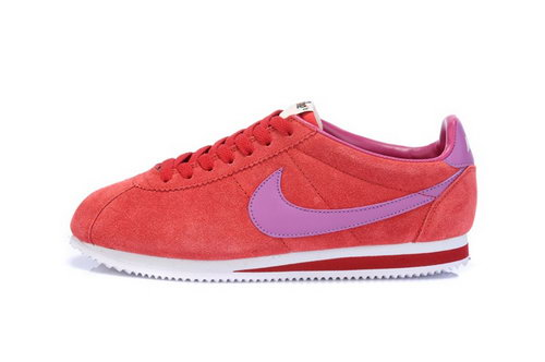 Nike Classic Cortez Nylon Womens Fur Red Purple Low Cost