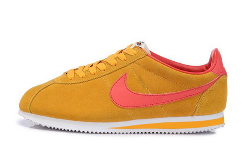 Nike Classic Cortez Nylon Womens Gold Yellow Red Best Price