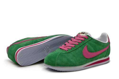 Nike Classic Cortez Nylon Womens Green Pink Outlet