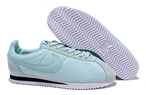 Nike Classic Cortez Nylon Womens Shoes All Light Blue Factory Store