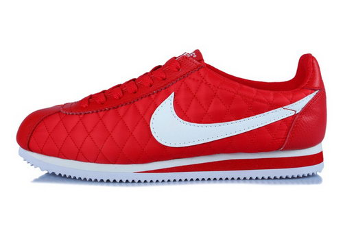 Nike Classic Cortez Nylon Womens Shoes All Red White Outlet Online
