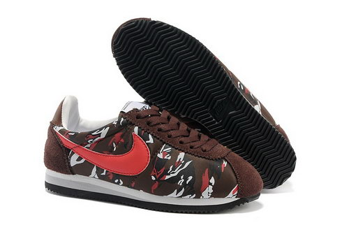 Nike Classic Cortez Nylon Womens Shoes Brown Red Norway