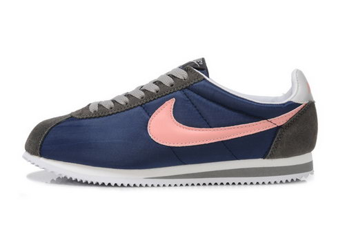 Nike Classic Cortez Nylon Womens Shoes Deep Blue Pink Spain