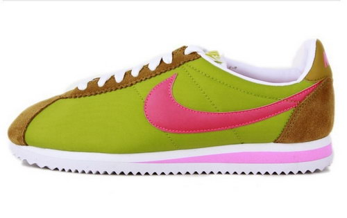 Nike Classic Cortez Nylon Womens Shoes Green Brown Red Factory Outlet