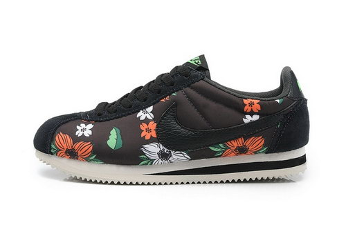 Nike Classic Cortez Nylon Womens Shoes Hawaii Flower Black Low Price