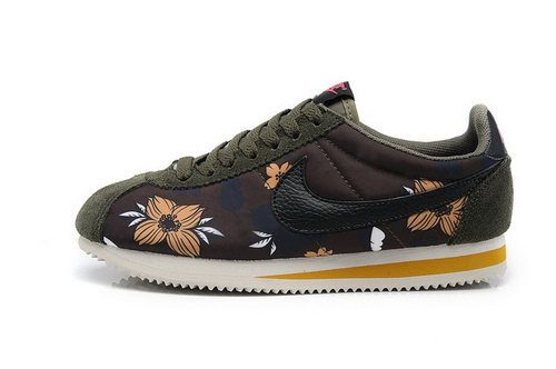 Nike Classic Cortez Nylon Womens Shoes Hawaii Flower Brown Coupon