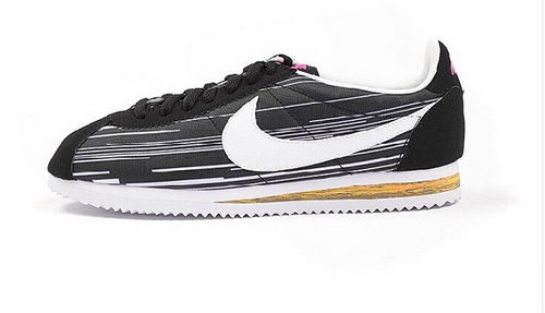 Nike Classic Cortez Nylon Womens Shoes New Outlet Brown White Hot Japan