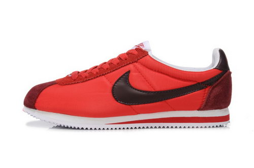 Nike Classic Cortez Nylon Womens Shoes Red Black New Discount Code