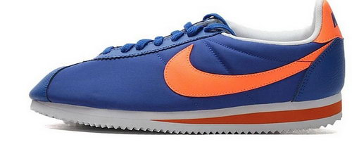 Nike Classic Cortez Nylon Womens Shoes Royal Blue Orang Factory Store