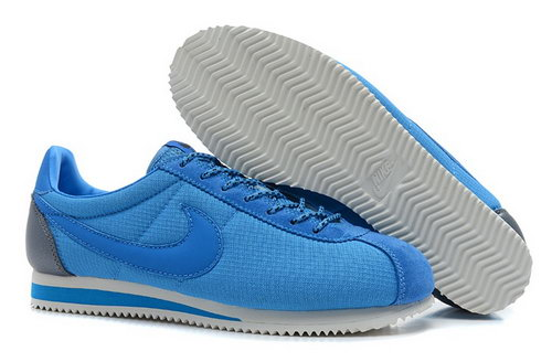 Nike Classic Cortez Nylon Womens Shoes Shanghai Blue Ireland