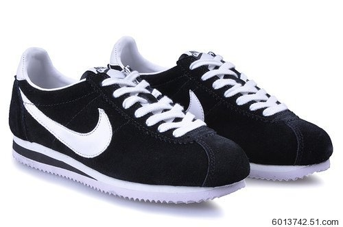 Nike Classic Cortez Yoth Womens Shoes Black White New Online Shop