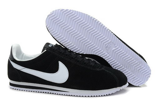 Nike Classic Cortez Yoth Womens Shoes Black White Spain