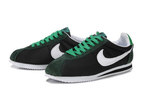 Nike Cortez Mens Black White Green Outlet Online
