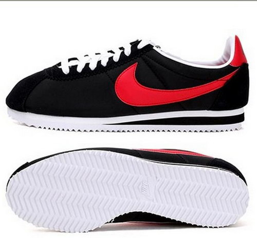 Nike Cortez Nylon Womens Shoes Black Red Special New Zealand