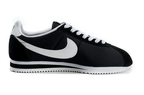 Nike Cortez Nylon Womens Shoes Black White Special Low Price