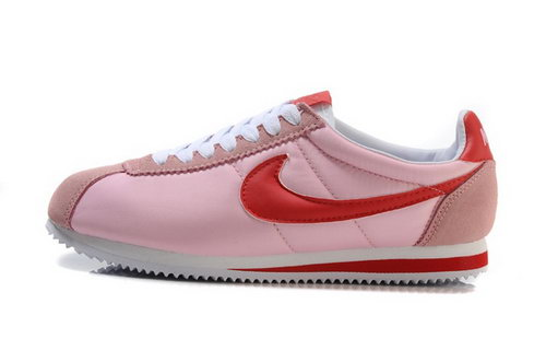Nike Cortez Nylon Womens Shoes Light Pink Red New Wholesale