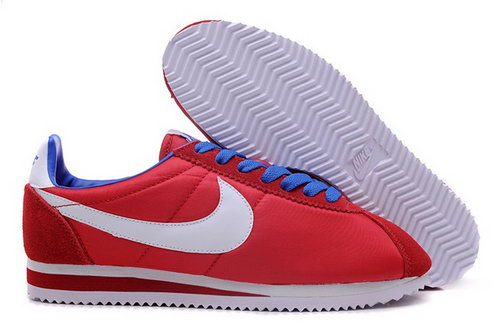 Nike Cortez Nylon Womens Shoes Red White Blue New For Sale