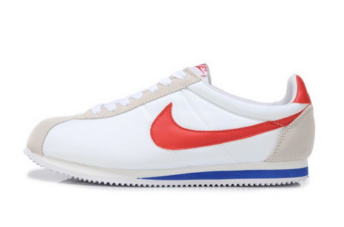 Nike Cortez Nylon Womens Shoes White Light Gray Red Hot Outlet Store