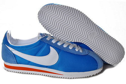 Nike Cortez Unisex Blue White Orange Inexpensive