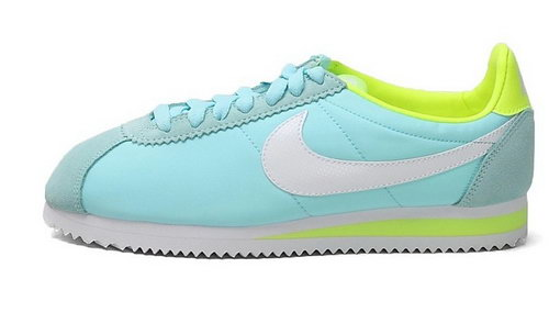 Nike Cortez Womens Blue Fluorescent Green Usa