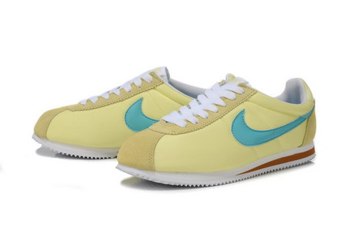 Nike Cortez Womens Yellow Green Low Cost