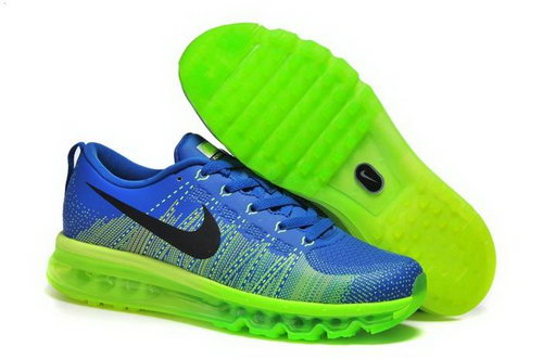 Nike Flyknit Max Mens Shoes Leather Print Lake Blue Black Green New Japan