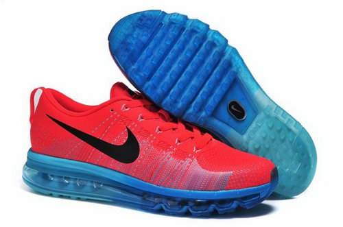 Nike Flyknit Max Mens Shoes Leather Print Orange Red Black Blue New Promo Code