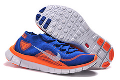 Nike Flyknit 5.0 Blue Orange Men Shoes Clearance