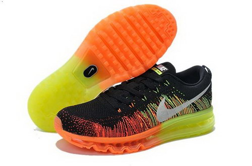 Nike Flyknit Air Max Mens Shoes Black Orange Silver Germany