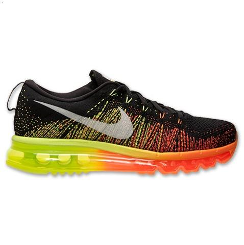 Nike Flyknit Air Max Mens Shoes Black Silver Green 0range Hot Factory Outlet