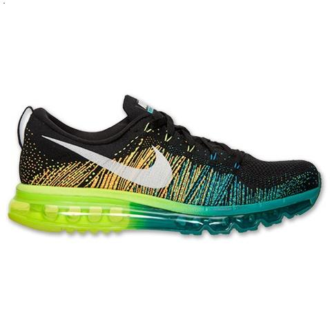 Nike Flyknit Air Max Mens Shoes Black Silver Green Hot Inexpensive