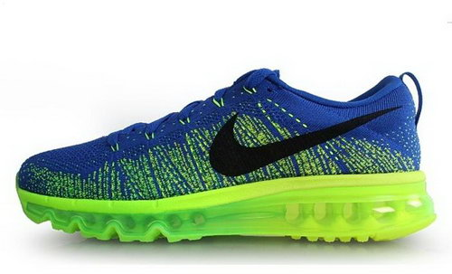 Nike Flyknit Air Max Mens Shoes Blue Green Black Hot On Sale Low Price