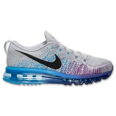 Nike Flyknit Air Max Mens Shoes Gray Black Purple New Coupon