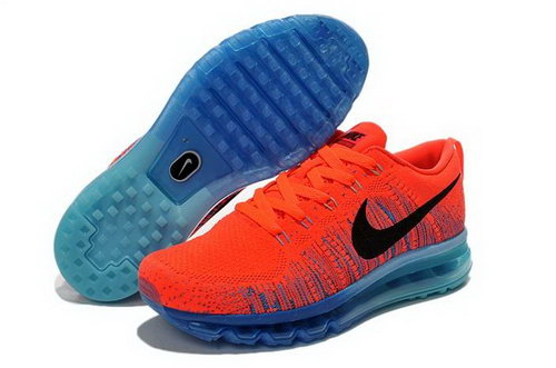 Nike Flyknit Air Max Mens Shoes Light Orange Black Blue Hot Coupon Code