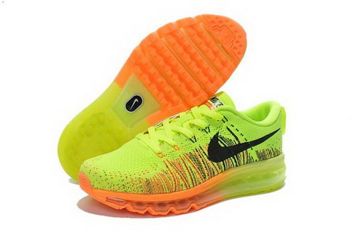 Nike Flyknit Air Max Womens Shoes Electrical Green Black Orange Discount Code