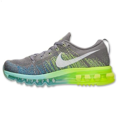 Nike Flyknit Air Max Womens Shoes Gray Yellow White Discount