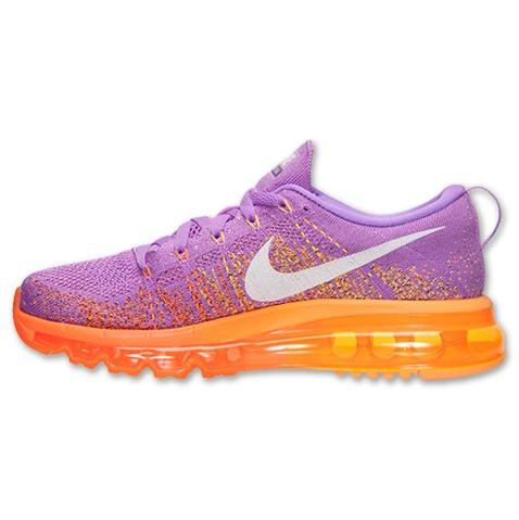Nike Flyknit Air Max Womens Shoes Light Purple Orange Factory Store