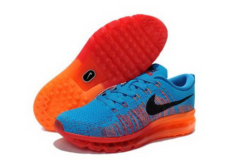 Nike Flyknit Air Max Womens Shoes Ocean Blue Red Black Outlet Online