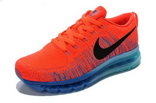 Nike Flyknit Air Max Womens Shoes Orange Black Blue Hot China