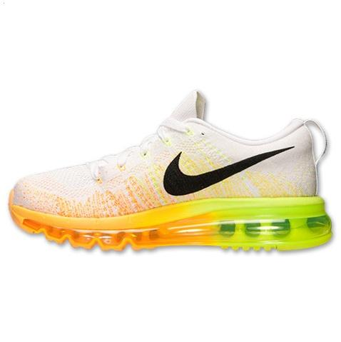 Nike Flyknit Air Max Womens Shoes White Black Orange On Sale