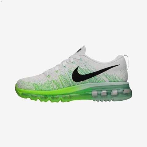 Nike Flyknit Air Max Womens Shoes White Green Black Hot On Sale Greece