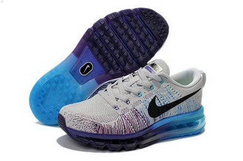 Nike Flyknit Air Max Womens Shoes White Purple Blue Black Reduced