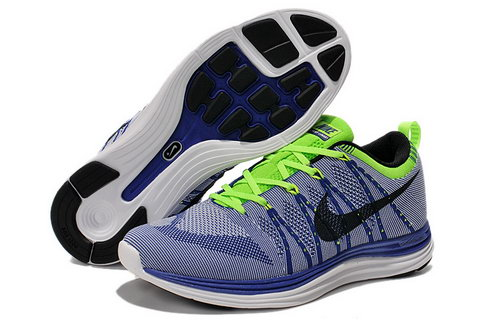 Nike Flyknit Lunar 1 Men Blue Green Sale